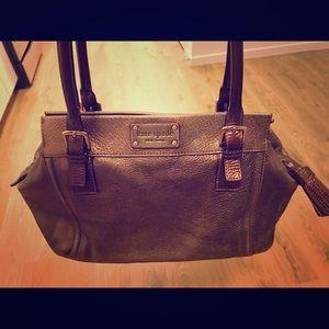 Kate Spade Brown Glitter Handbag Genuine Leather
